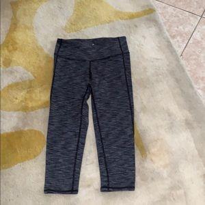 Athleta Grey White Crop Yoga Pant